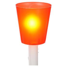 Flambeaux en plastique colorée, lot 30 pcs s3