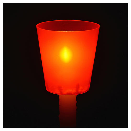 Flambeaux en plastique colorée, lot 30 pcs 2