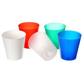 Świece, paschały, gromnice, świeczki: Flambeaux plastikowy kolorowy ( 30 sztuk)