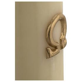 Cirio Pascual cera de abeja cordero plata cruz 8x120 cm s6