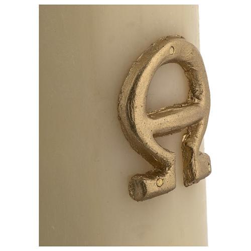 Cirio Pascual cera de abeja cordero plata cruz 8x120 cm 5