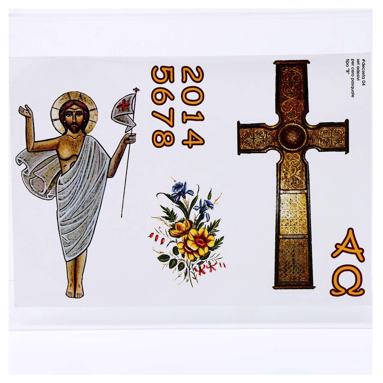 Adhesivo Cirio Pascual mod. B 3