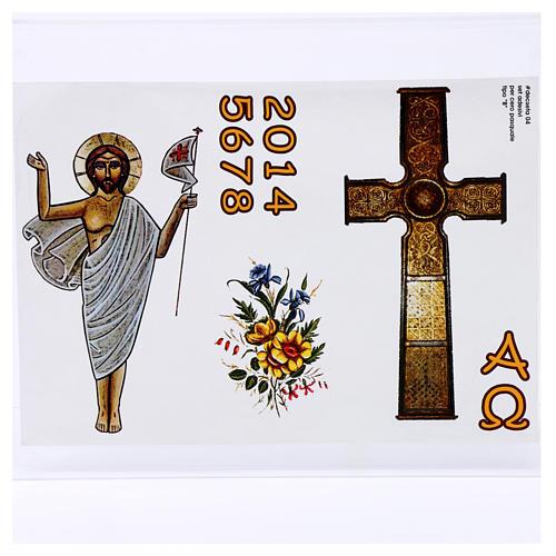 Adhesivo Cirio Pascual mod. B 1