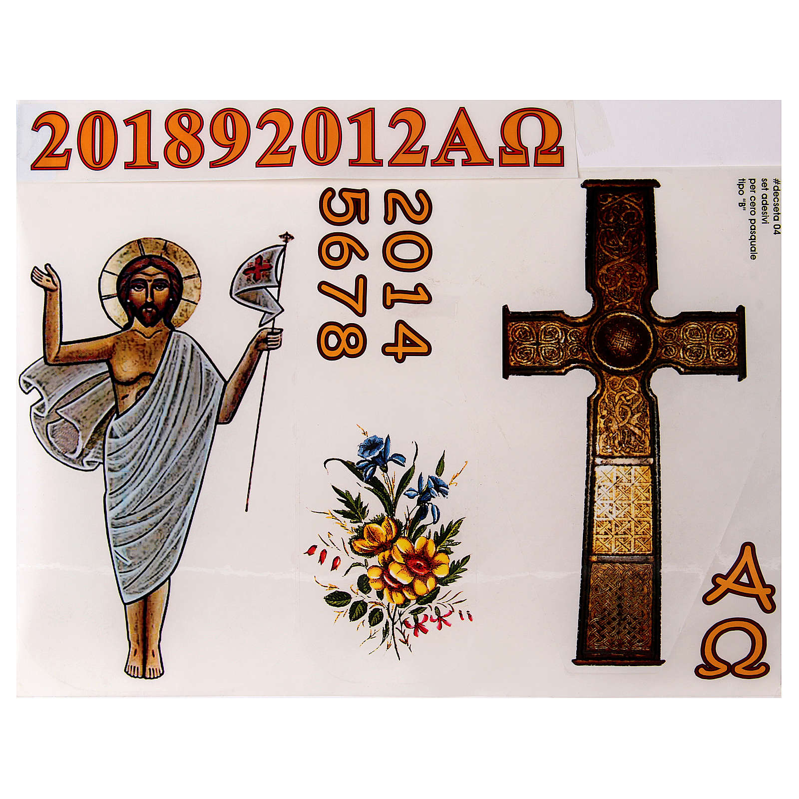 Sticker set for Paschal Candle, set B 3