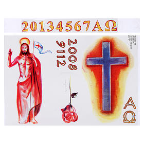 Sticker for Paschal Candle, set V s1