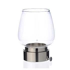 Glass wind-proof replacement for 5cm silver lamp s1