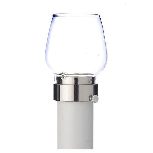 Wind-proof Candle Follower, 30 cm tall with silver base, 4cm diameter 1