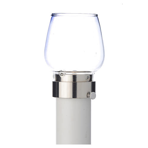 Wind-proof lamp, 100cm tall with silver base, 4cm diameter 1