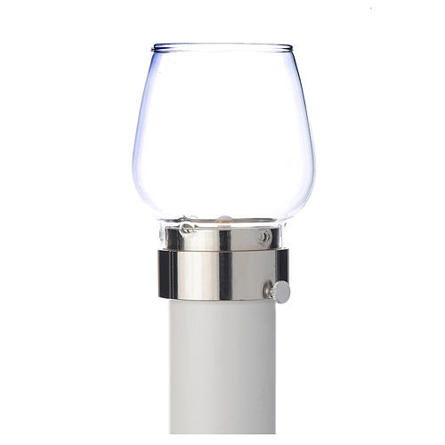 Wind-proof lamp, 30cm tall with silver base, 5cm diameter 1
