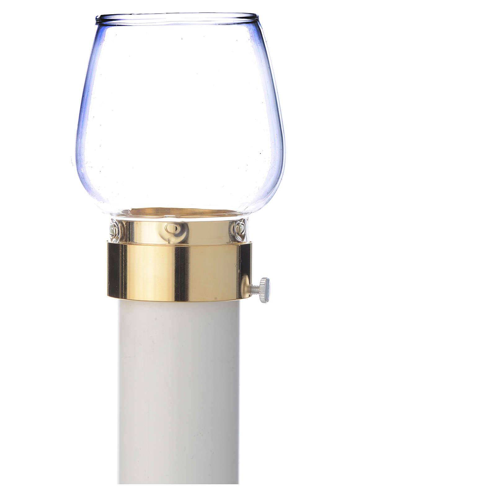 Wind-proof lamp, 30cm tall with golden base, 5cm diameter 3