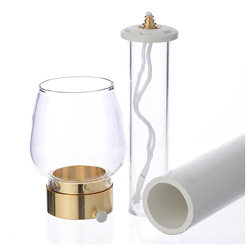 Wind-proof lamp, 30cm tall with golden base, 5cm diameter 2