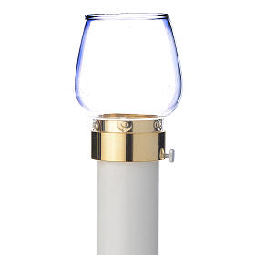 Wind-proof lamp, 70cm tall with golden base, 4cm diameter s1