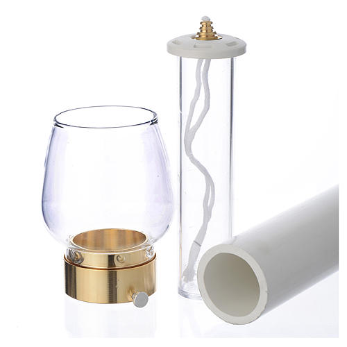 Wind-proof lamp, 70cm tall with golden base, 4cm diameter 2