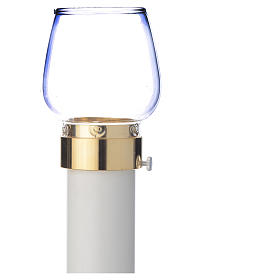 Wind-proof lamp, 30cm tall with golden base, 4cm diameter s4