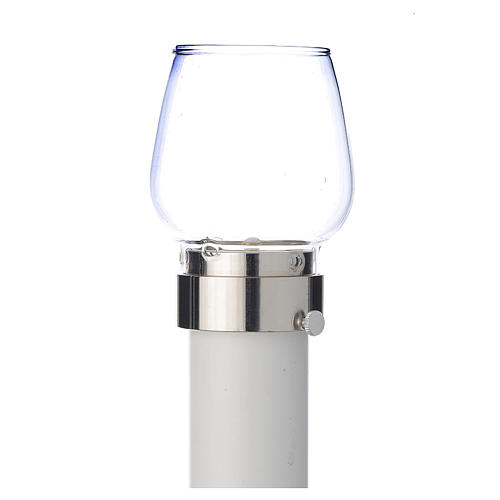 Wind-proof lamp, 100cm tall with silver base, 5cm diameter 1