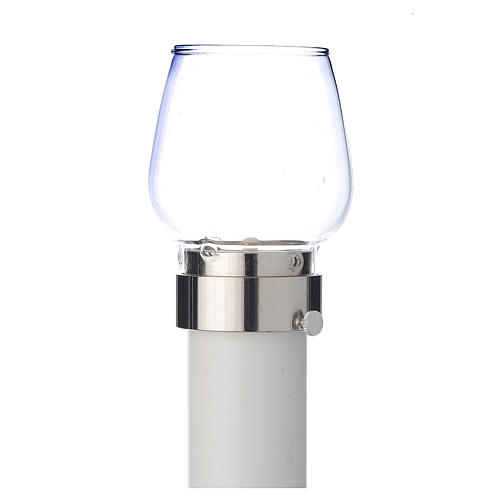 Wind-proof lamp, 70cm tall with silver base, 5cm diameter 1