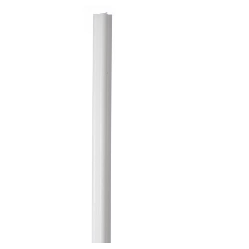 Antique torch candle 800x50x50mm in white wax, pack of 6 1