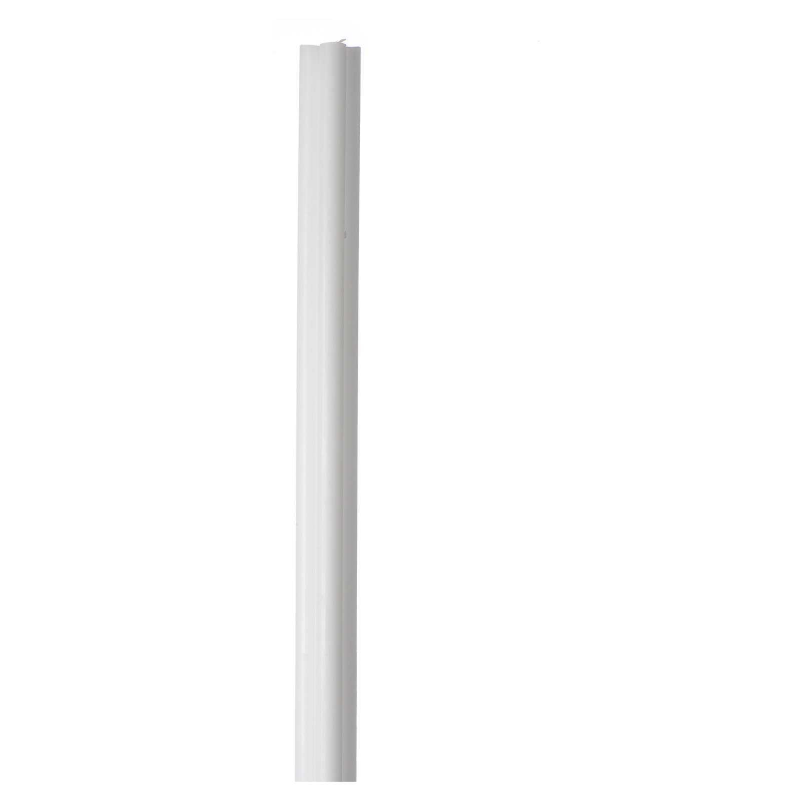Antique torch candle 800x50x50mm in white wax, pack of 6 3