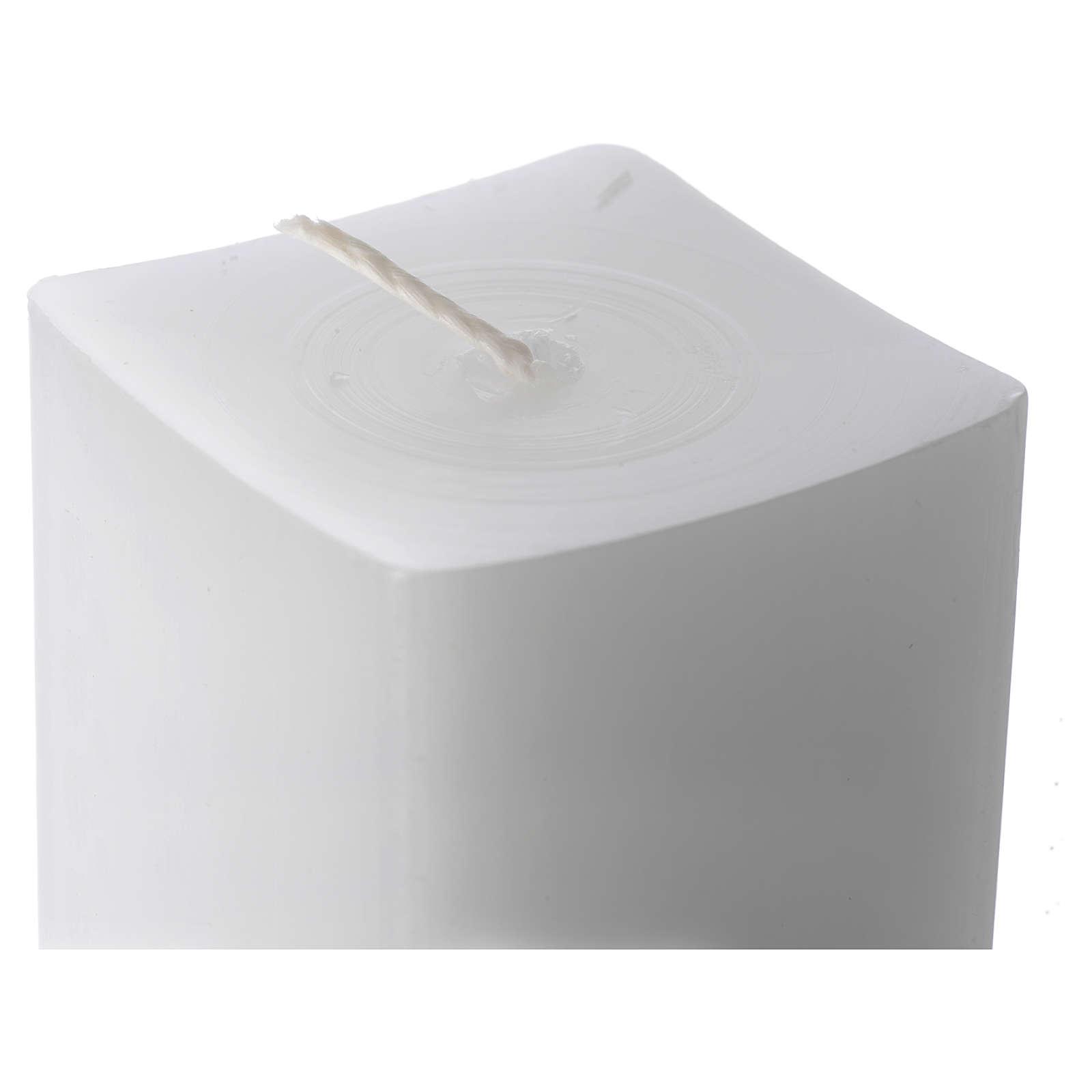 Vela blanca cuadrada 800x50x50 mm (paquete) 3