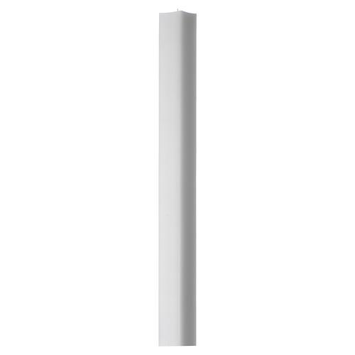 Vela blanca cuadrada 800x50x50 mm (paquete) 1