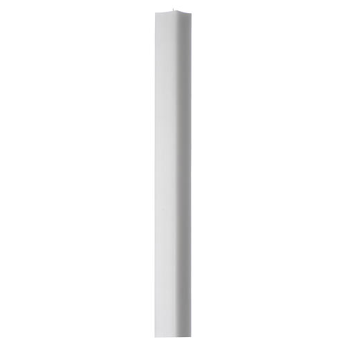White square candle 800x50x50mm in white wax, pack of 6 1