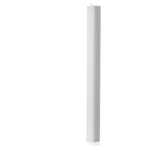 Candela bianca quadra 400x30x30 mm (confezione) 1