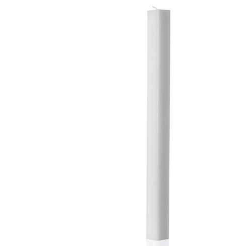 White square candle 400x30x30mm, pack of 15 1