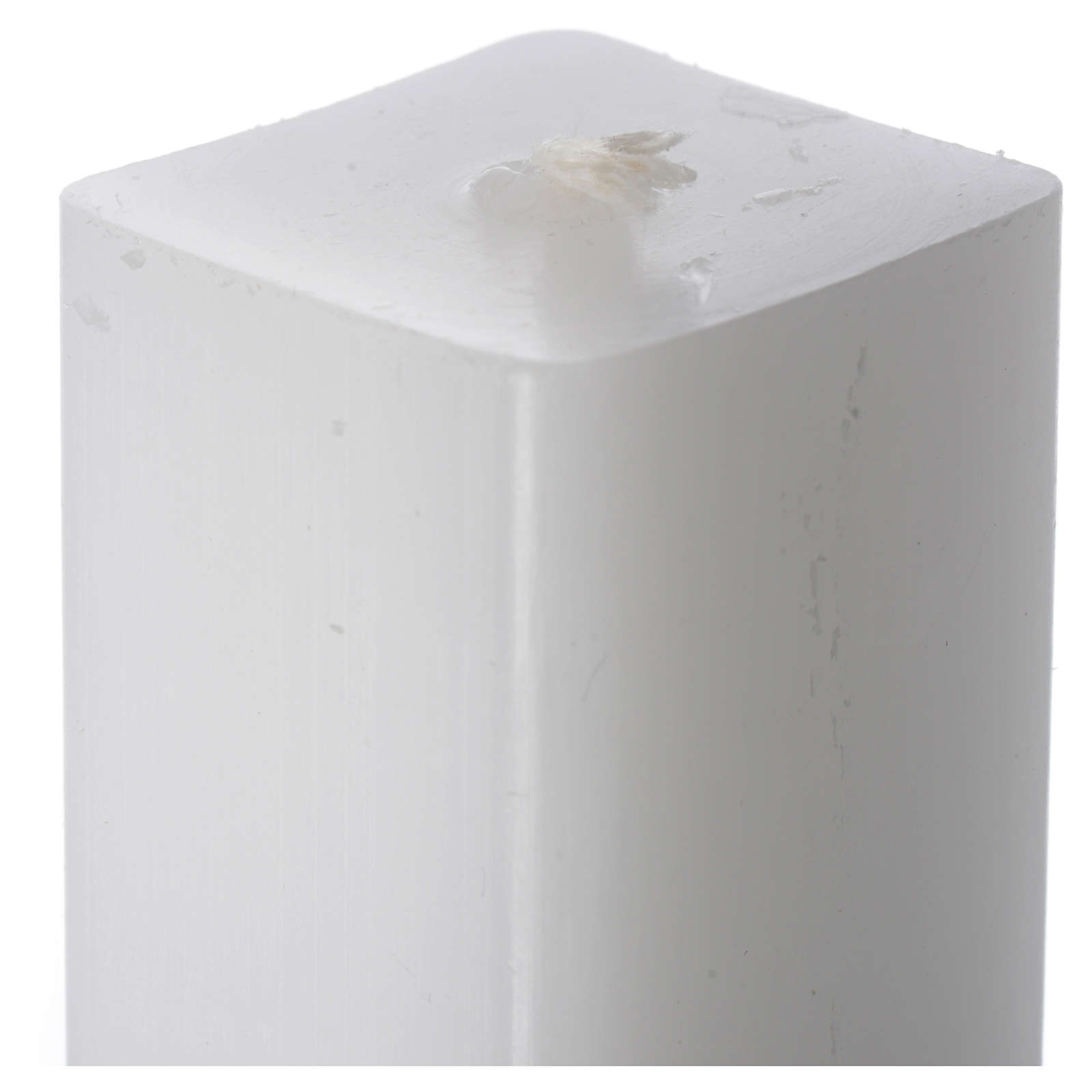 Bougie blanche carrée 600x30x30mm (lot) 3