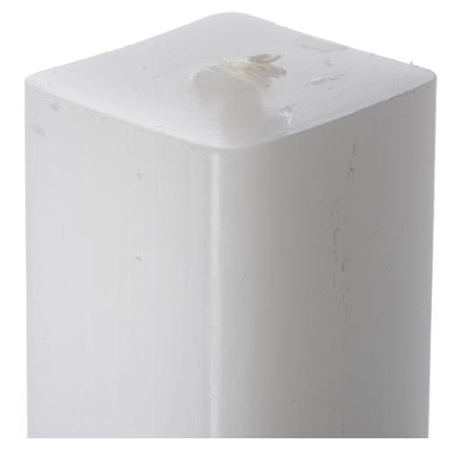 Bougie blanche carrée 600x30x30mm (lot) 2