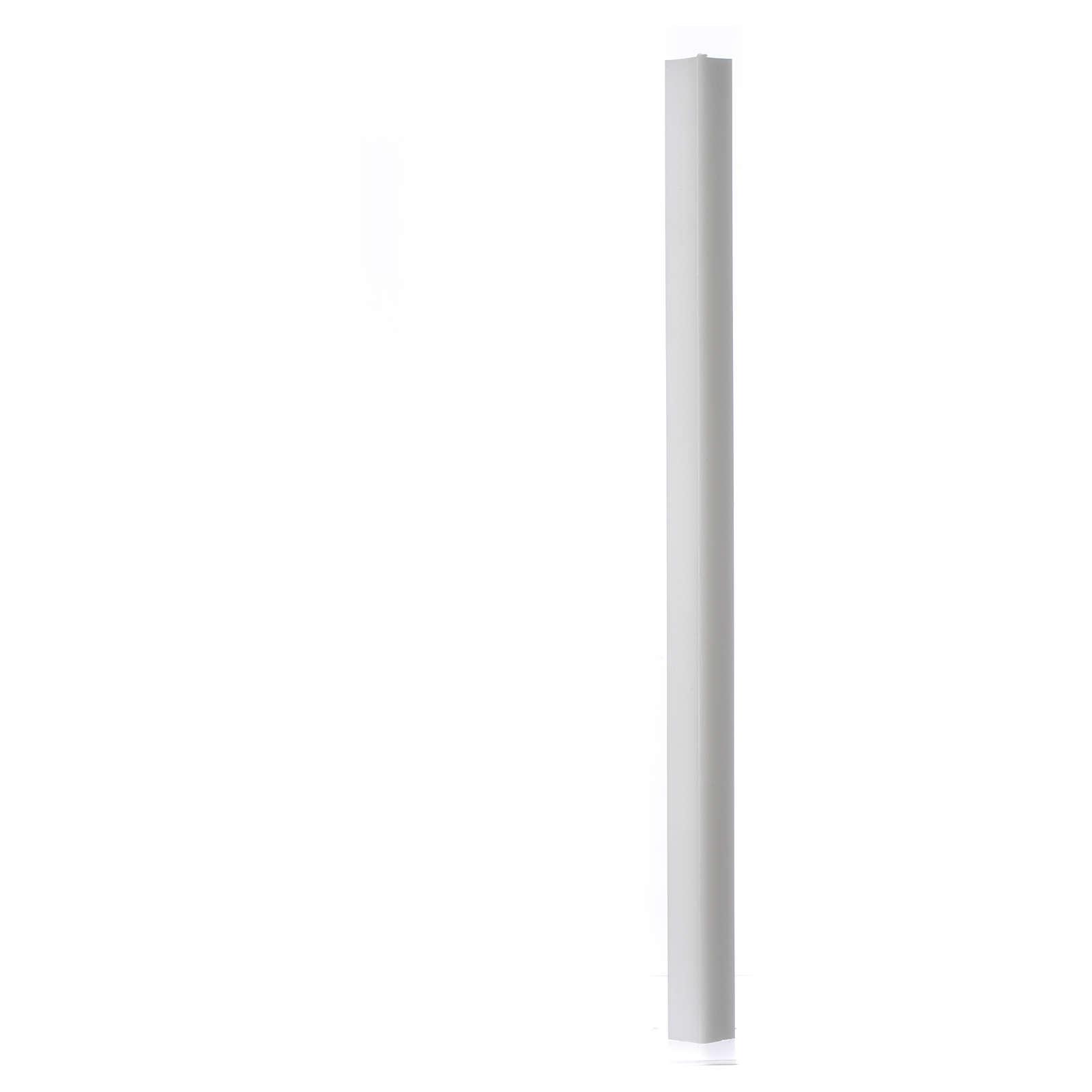 Candela bianca quadra 600x30x30 mm (confezione) 3