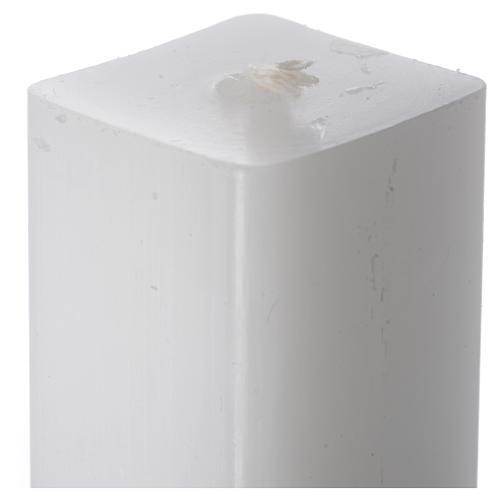 Candela bianca quadra 600x30x30 mm (confezione) 2