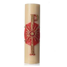 Bougies, cierges, chandelles: Cierge messe bas-relief diam. 8 cm Pax