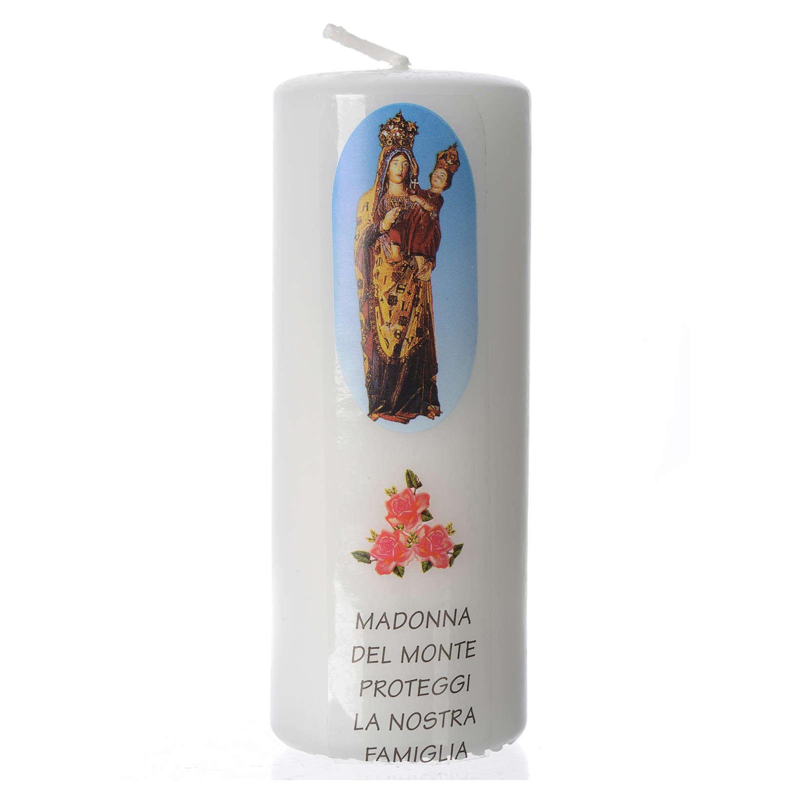 Candelotto Madonna del Monte 13x6 cm bianco 3