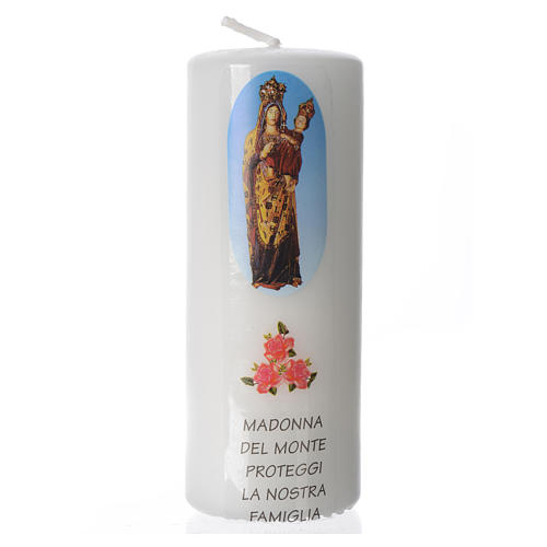 Candelotto Madonna del Monte 13x6 cm bianco 1