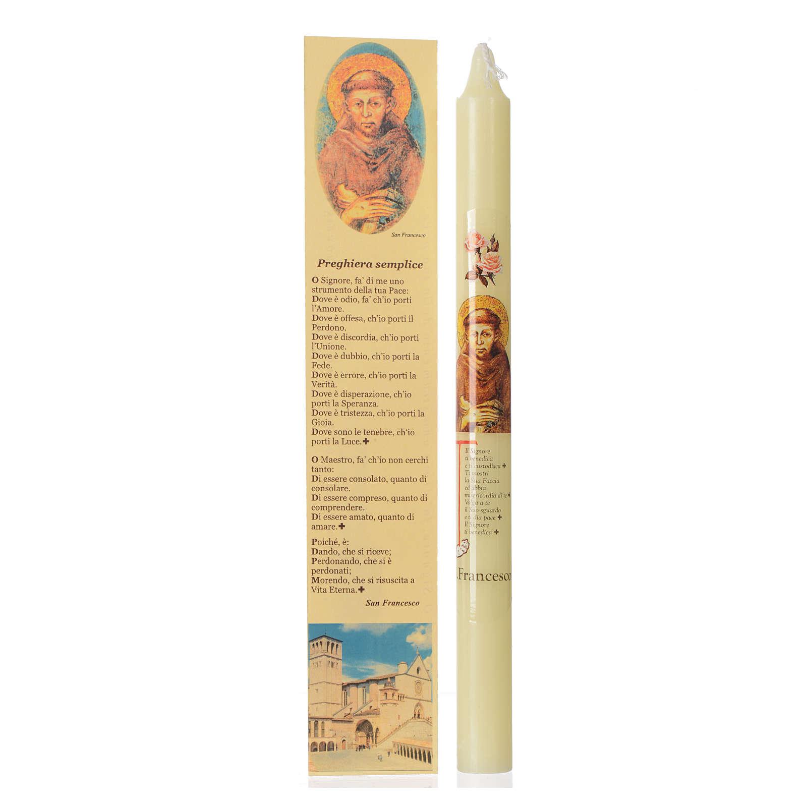 Candelina San Francesco d'Assisi con astuccio 3