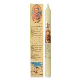 Candelina San Francesco d'Assisi con astuccio s1