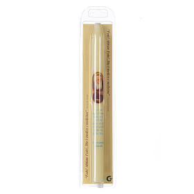 Saint Leopold Mandić thin candle with case s2