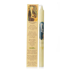 Saint Catherine of Siena thin candle with case s1