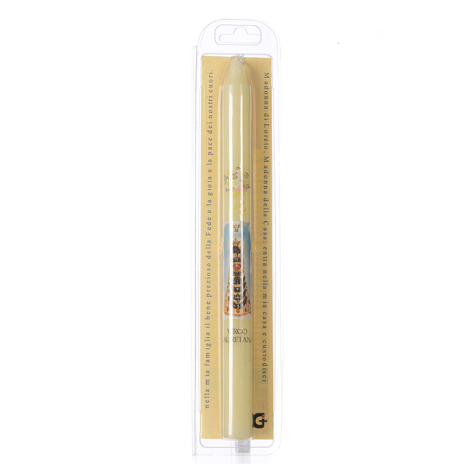 Our Lady of Loreto thin candle with case 3