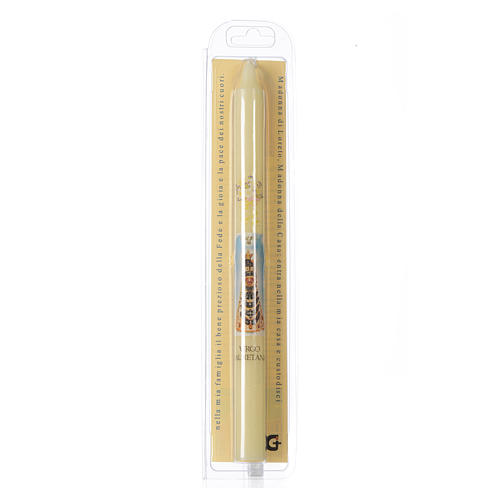 Our Lady of Loreto thin candle with case 2