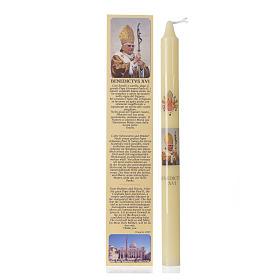Bougies, cierges, chandelles: Chandelle Benoît XVI avec étui