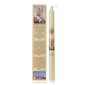 Vela palito Papa Bento XVI com estojo s1