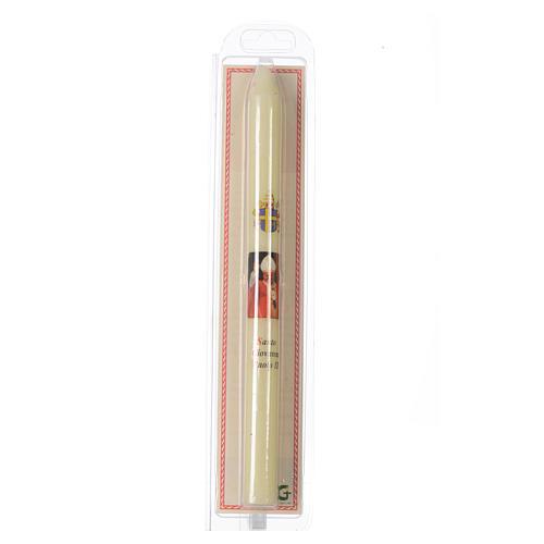 Saint John Paul II thin candle with case 2