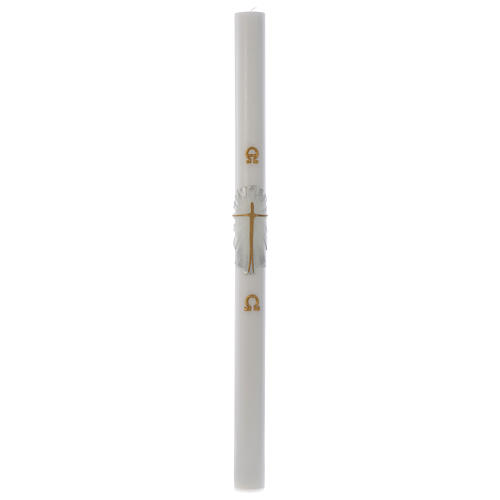 Paschal candle with gold silver Resurrected Christ 8x120cm 3