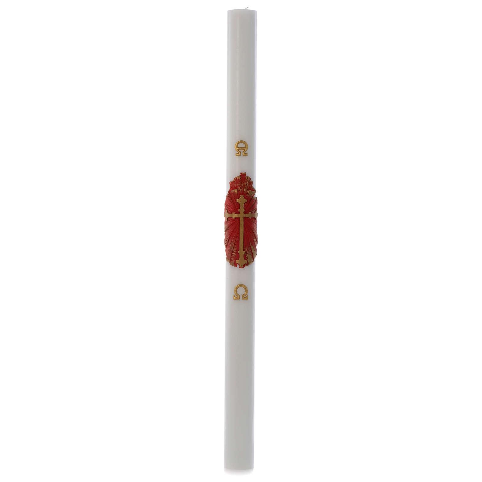 Cirio Pascual cera blanca Cruz Antigua 8x120 cm 3