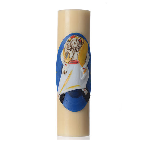 STOCK Vela de Altar Logo Jubileo de la Misericordia, cera de abeja, diám 8 cm 1