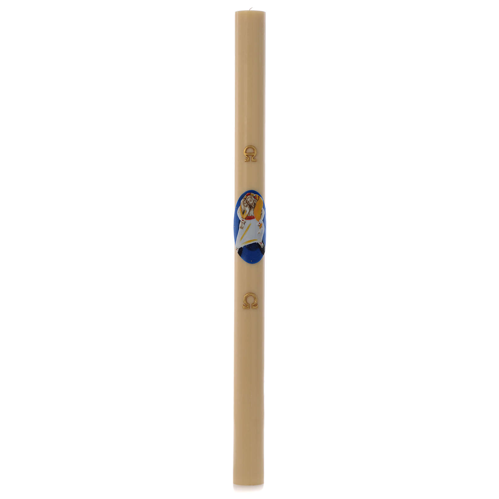 STOCK Paschal Candle Logo Jubilee of Mercy beewax 8x120cm 3