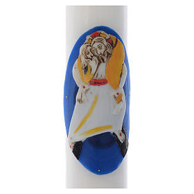 STOCK Paschal Candle Logo Jubilee of Mercy white wax 8x120cm s2