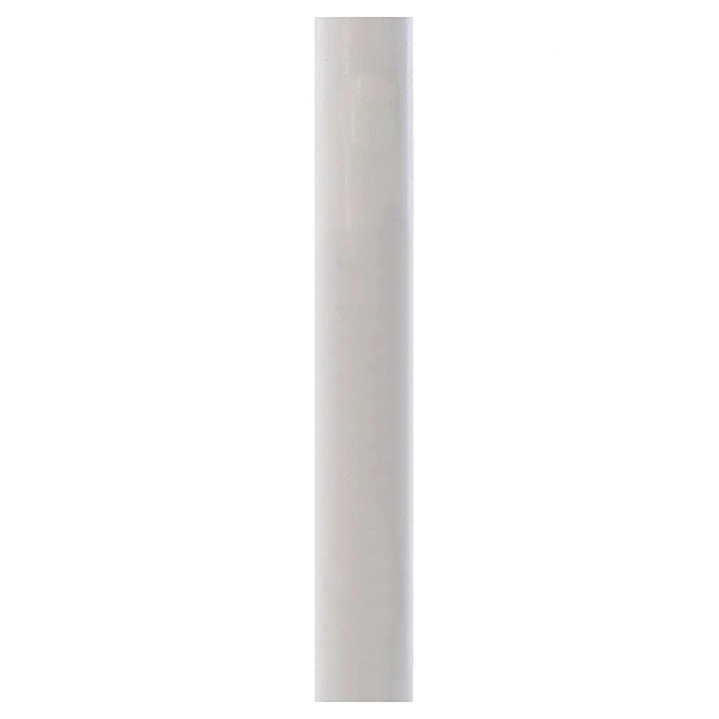 Cierge Pascal blanc AVEC RENFORT 8x120cm 3