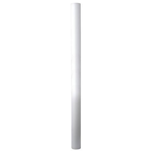 Cierge Pascal blanc AVEC RENFORT 8x120cm 2